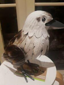 LAST 1 Metal Tin GARDEN Decoration Kookaburra ART PIECE animal native AUSTRALia