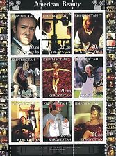 AMERICAN BEAUTY KEVIN SPACEY CULT MOVIE KYRGYZSTAN 2001 MNH STAMP SHEETLET