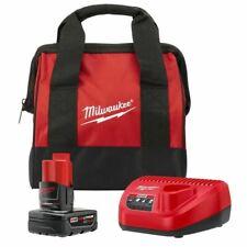 Milwaukee 48-59-2420 M12 Ct 2.0 Starter Kit,Red//Black