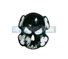 COPPIA SAPONETTE PER TUTA MOTO OXFORD SKULL OF261 TESCHIO NERO