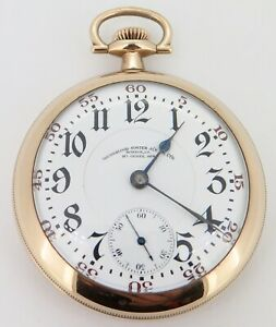.Rare 1912 Illinois Bunn Special 26 Jewel Gold Filled OF Railroad Pocket Watch