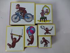 Set of 6 Curious George Rubber Stamps