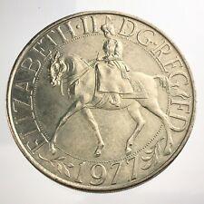 1977 British Crown Commemorative Silver Jubilee Elizabeth II UK Coin U414