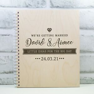 Personalised Wedding Planner Wooden Wedding Book Gift Engagement Gift Ideas