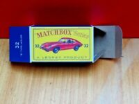 MATCHBOX 'REGULAR WHEELS' NO.32B JAGUAR E-TYPE, CUSTOMISED DISPLAY BOX ONLY