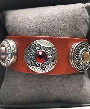 New High Quality Ladies Leather Bracelet with 3 Chunks by Bianca Cavatti
