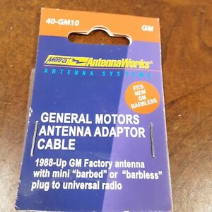 Metra 40-GM10 Factory Antenna Aftermarket Radio Adapter for Select 1988-06 GM