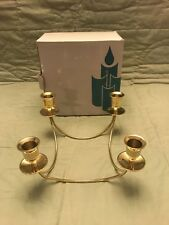 Partylite Brass Quartet Candle Holder Po478 Retired