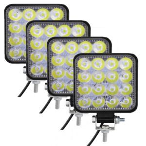 Faretto LED Faro 12 Volt Luce 48W per LAVORO AUTO BARCA SUV CAMION JEEP KLW