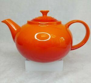 Le Creuset Stoneware Classic Teapot Volcanic Orange 1.3L NEW/UNUSED *IMMACULATE*