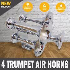 NEW Train Truck Horn 12v - 24v 4 trumpet Air Horns Loudest 159db