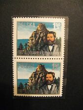 Poland Sc# 2174 Joined Pair MNH, 1976 Centenary Polish Geologist