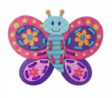 Stephen Joseph Butterfly Lacing Puzzle New Toddler Activity Learning Toy