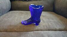Mosser Glass Co Cobalt Blue High Heel Boot