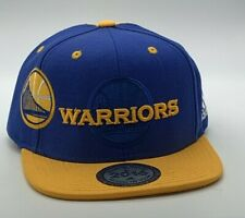 Golden State Warriors Cap Adidas Flat Brim  Snapback Hat 2016 Draft NBA