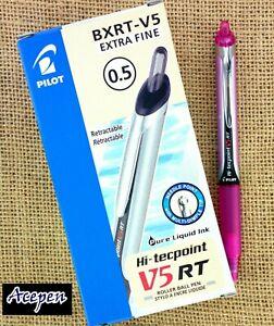 12pcs Pilot Hi-tecpoint V5 RT roller ball pen retractable PINK ink + GIFT