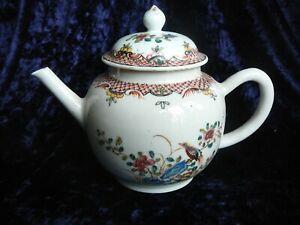 Antique Chinese Qianlong 18th Century Famille Rose Export Porcelain Tea Pot.