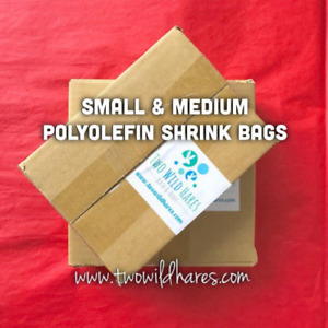 """1000-Polyolefin (Smell Thru) Shrink Bags in 2 Sizes, (4x6"""", 6x6.5"""") USA Seller"""