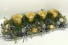 Advent Wreath With Four Candles Christmas Table Decor Natural Decoration