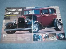 "1932 Ford 2-Door Sedan Hot Rod Article ""Unfinished Business"" 392 Hemi"