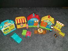 Elc Early Learning Huge Happyland bundle Pre School Shop Cakes Toy Shop Cafe
