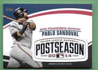 Pablo Sandoval 2018 Topps Update MLB POSTSEASON LOGO PATCH RELIC Giants