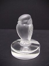 Lalique France Crystal Bird Of Prey Place Card Holder Paperweight