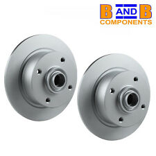 VW T1 BUG BEETLE FRONT BRAKE DISCS PAIR 113407075 4 STUD 1967 TO 1979 A657
