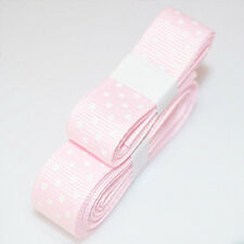 """3yds 5/8""""(15 mm) Pink Christmas Ribbon Printed lovely Dots Grosgrain"""