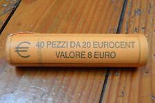 Rouleau de 40 pièces 1 er type Roll lot rare      20 cent euro saint marin 2005