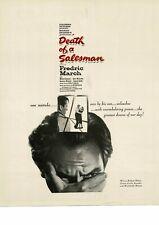 DEATH OF A SALESMAN Frederic March 1952 movie promo Vintage Ad