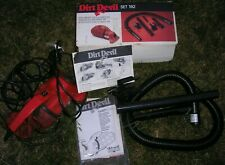 DIRT DEVIL Handy Zip Hand Held Vac Vacuum Cleaner Plus Attachments. Vintage