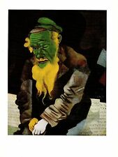 """1972 Vintage MARC CHAGALL """"JEW IN GREEN LE JUIF EN VERT"""" COLOR offset Lithograph"""