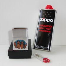 Zippo en TU MECHERO botas vaqueras gasolina + + 6er donante fuego piedras nuevo embalaje original