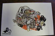 1970 CHEVROLET ONE HUNDRED YEARS ENGINE ILLUSTRATIONS BY DAVID KIMBLE POSTCARD