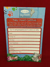 CARTE BLANCHE ME TO YOU TATTY PUPPY DOG OWNERS BIRTH CERTIFICATE GIFT