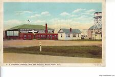 NORTH PLATTE NE 1942 Coast to Coast Air Passenger Service Landing Field & Hangar