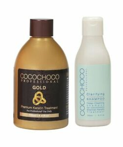 COCOCHOCO GOLD BRAZILIAN KERATIN TREATMENT BLOW DRY HAIR STRAIGHTENING 400ML KIT