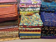 Fat Quarter Bundle ~ Lot of 100 ~ Quilt shop fabrics ~ Top Brands Quilt Cotton