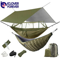Camping Hammock With Mosquito Net / Under Quilt Blanket/ Rainfly Cover Tarp Fall