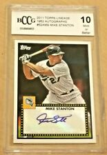 GIANCARLO STANTON MIKE Yankees 2011 Topps Lineage 1952 Auto BGS BCCG 10 MINT