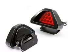 F1 style 12 LED Rear Tail Brake Stop Light Third Red Strobe safety Fog DRL Lamp