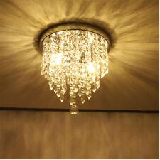 Mini Chandelier, Crystal Chandelier Lighting, 2 Lights, Flush Mount Ceiling US