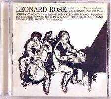 SONY CBS Schubert Boccherini Sammartini LEONARD ROSE Sonatas (CD 2001) SMK-89749