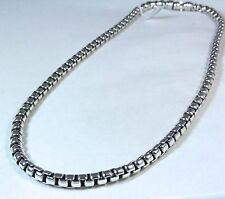 "David Yurman Men's Extra Large Box Chain Necklace Sterling Silver 24"" $890 NWT"
