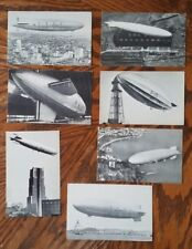 Vintage Lot of 7 Dirigible Post Cards Rubber City Stamp Club - Airship Zeppelin