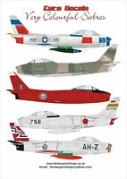 EURODECALS VERY COLOURFUL SABRES  DECALS TRANSFERS  1/72  ED-72101