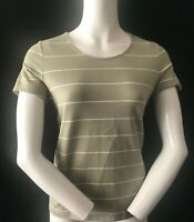 DASH Women's Soft Cotton Striped Short Sleeve Top UK 10