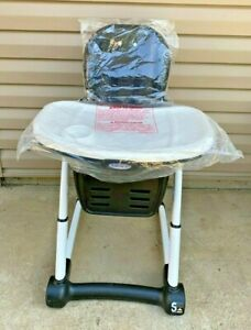 Graco Blossom 6 in1 Convertible High Chair Studio Prnt 3 Position Adjustable New