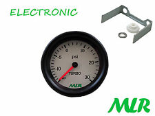 52MM 30PSI BOOST GAUGE WHITE FACE ELECTRONIC STEPPER MOTOR MOVEMENT MLR.AZM